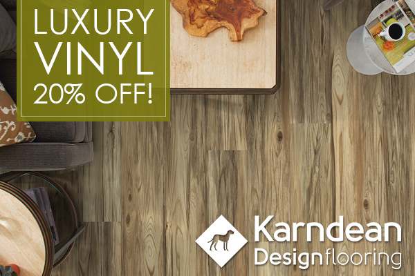 20% off Luxury Vinyl by Karndean Flooring. Stop by our showroom in Arlington, Texas to see amazing selections!